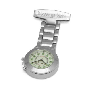 Personalised Engraved Back Lit Nurses Fob Pocket Watch Doctors Porters Gift