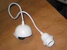 Cordon suspension BLANC lustre pendant avec câble fil électrique douille et pavi