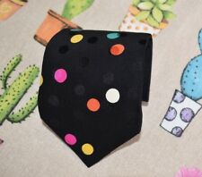 Brioni vintage silk tie | Black w/ multi-coloured polka dots (Made in Italy)