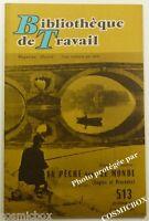 BT Bibliothèque de Travail n° 513 La PECHE dans le MONDE en 1962 revue magazine