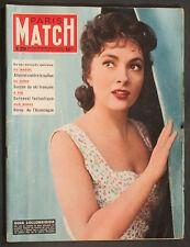'PARIS-MATCH' FRENCH VINTAGE MAGAZINE GINA LOLLOBRIGIDA COVER 13 MARCH 1954