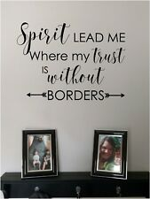 Spirit Lead Me Wall Sticker Vinyl Decals Art Bible Verse lettering Quotes
