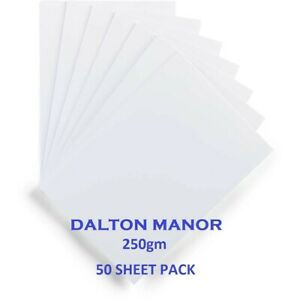 DALTON MANOR 250GM WHITE CARD IN VARIOUS PACK SIZES HIGH QUALITY ICE WHITE