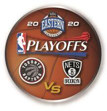 "2020 NBA PLAYOFFS PIN TORONTO RAPTORS BROOKLYN NETS EASTERN CONFERENCE 1.25"""