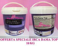 PASTA DI ZUCCHERO X COPERTURA 10KG IRCA DAMA TOP CAKE DESIGN TORTE DECORATE PDZ