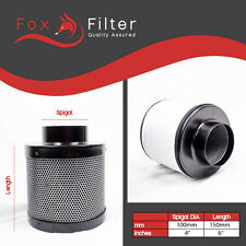 "Fox Hydroponics 4"" Inch (100mm x 150mm) Pro Carbon Filter Indoor Growing"