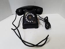 Vintage Bakelite Kellogg 1000 Series Rotary Dial Phone Black Red Bar Untested