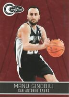 2010-11 Totally Certified Red #118 Manu Ginobili /499 San Antonio Spurs