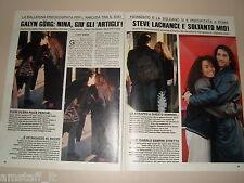 GALYN GORG STEVE LACHANCE clipping articolo fotografia foto photo 1989 AS22
