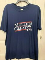 """Make Mullets Great Again"" Short Sleeve Men's T-Shirt 100% Cotton Red White Logo"