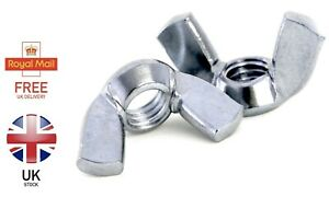 M3 M4 M5 M6 M8 M10 M12 M16 WING NUTS BUTTERFLY NUT BRIGHT ZINC PLATED DIN 315