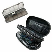 Ps Vita Case Hard Travel Game Carrying Protective Bag + Gray Game/Memory Ca