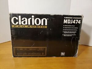 VINTAGE OLD SCHOOL CLARION 4 MINI DISC CHANGER MDJ474 RARE