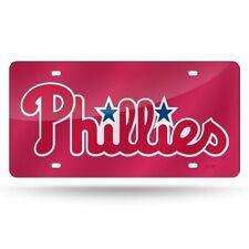 Philadelphia Phillies MLB Mirrored Laser Cut License Plate Laser Tag