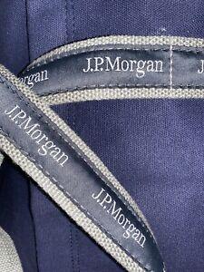"""JPMorgan JP Morgan Chase JPM - 17"""" Original Duffel FO Trader Banker Bag - Navy"""