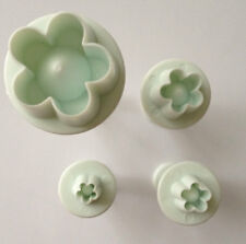 4 Pcs Flowers plunger Cutter cake decorating mold fondant baking tool cookie