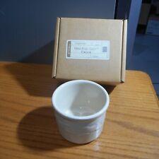 Longaberger Pottery Ivory One Pint Salt Crock 31691 Nib