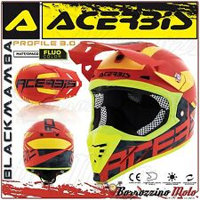 CASQUE ACERBIS PROFILE 3.0 BLACKMAMBA MX MOTOCROSS ENDURO ROUGE/JAUNE TAILLE M