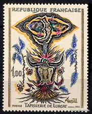 Timbre neuf de 1966 Yt 1493 Tapisserie de Lurcat Lunes et toros