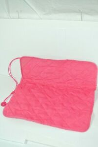 Limited ed. pink nikon j1 camera pad padded wrap case pull string breast cancer