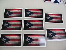 8 PUERTO RICO FLAG Sticker Decal LOT 4 boat car Window Truck suv Wholesale RICAN
