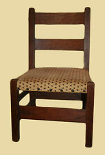 Rare Original Stickley Child's Chair w/ Shop Mark for Gustav c1902-1910