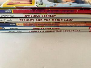 7 Flat Stanley Books Set Worldwide Christmas and More! Jeff Brown
