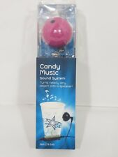 Black Candy Music Vibration Speaker SPB-001 with charging cord Boom Ball