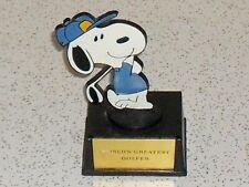 Vintage Snoopy World's Best Golfer award