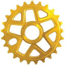 SAVAGE BMX BICI BICICLETTA 28T PARACATENA ORO 28 DENTI dente CHAIN RING