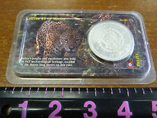 BELIZE 2002 1 Dollar Mayan King Silver Crown UNC