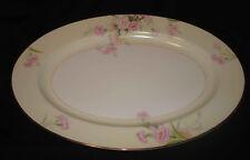 "Vintage Noritake Mystery #1 Pink Carnations Cream Rim Amherst 13 ½"" Oval Platter"