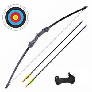 New 15lbs Longbow Archery Junior Kids Youth long bow Arrow set takedown Sport