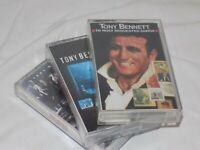 Lot of 3 Tony Bennet Cassettes MTV Greatest Hits Frank Sinatra
