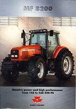 Massey Ferguson MF8200 01 / 1999 catalogue brochure tracteur Traktor