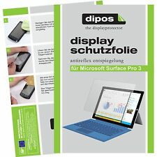 2x dipos Microsoft Surface Pro 3 matt Displayschutzfolie Antireflex Testsieger