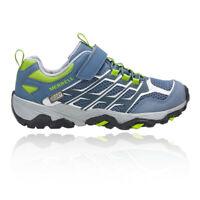 Blue Grey Sports Outdoors Merrell Boys MOAB FST A//C Waterproof Walking Shoes