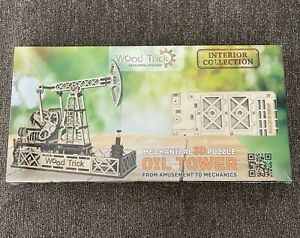 Wood Trick Oil Tower Mechanical 3D Puzzle -  New and Sealed