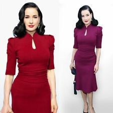 Women's V Neck Short Sleeve Business Stretch, Bodycon Dresses