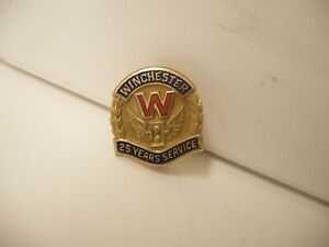 Vintage Winchester Original 25 Year Service Award Pin 10K Gold New Haven ct
