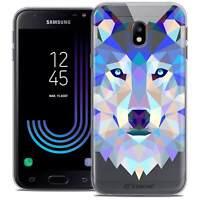 "Coque Housse Etui Pour Samsung Galaxy J3 2017 J320 (5"") Polygon Animal Souple Fi"
