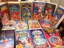 Original case  Clamshell Disney VHS Collection Lot of 14 some rare photos