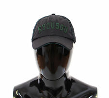 NWT $240 DOLCE & GABBANA D&G Hat Black Logo Baseball Cap Cappuccio s.58/M