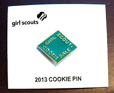 2013 Girl Scout COOKIE SALE PIN, TEAL, NEW on CARD Multi=1 Ship Chrg