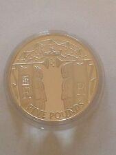 2002 ORO ARGENTO PROOF 1 OZ (ca. 28.35 g) £ 5 Five Pound Coin. ER giubileo incoronazione Processione