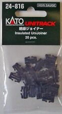 NEW KATO UNITRACK 24-816 INSULATED UNIJOINER (20pcs)