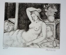 Female Nude Reverie & Cat, Frances Strain Chicago WPA