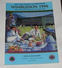 THE LAWN TENNIS CHAMPIONSHIPS WIMBLEDON 1996 OFFICIAL PROGRAMME DAY 1 24TH JUNE
