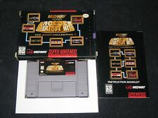 Midway's Greatest Hits for Snes. Complete in Box. Tempest,Centipede,Asteroi ds