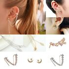 Fashion Women Ear Hook Plated Crystal Rhinestone Stud Ear Clip / Tassel Earrings